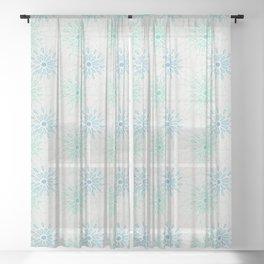water drops light colors Sheer Curtain