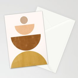 Moons | Mid Century Abstract Stationery Cards