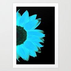 portrait of summer - blue black Art Print