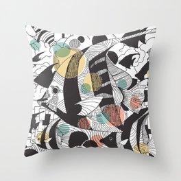 Fly Fish II Throw Pillow