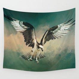 Osprey In Flight Wall Tapestry