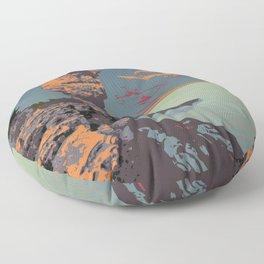Fathom Five National Park Poster (Flowerpot Island) Floor Pillow