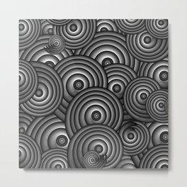 Charcoal Swirls Metal Print