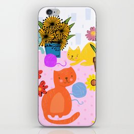 Three Curious Cats iPhone Skin