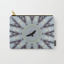 bird feather mandala, spirit animal, eagle bird of prey hawk art Carry-All Pouch
