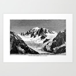 Existing Alpine Glacier Art Print