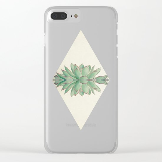 Echeveria II Clear iPhone Case