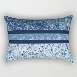 Vintage Terrazzo Blues Rectangular Pillow