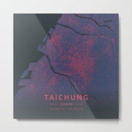 Taichung, Taiwan - Neon Metal Print