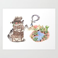 Let's Go Adventuring Art Print
