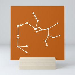 Sagittarius (White & Bronze) Mini Art Print