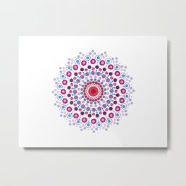 Dotty Mandala Metal Print