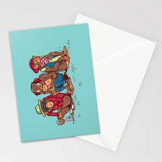Three Wise Hipster Monkeys Stationery Cards