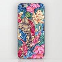 koi iPhone & iPod Skins featuring Koi Pond by Vikki Salmela
