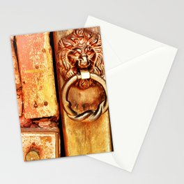 Lion door. Stationery Cards