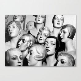 Mannequin Heads - Peter Weller Vintage Photo Canvas Print