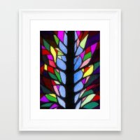 stained glass Framed Art Prints featuring Stained Glass by Sartoris ART
