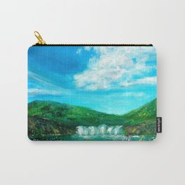Spring Waterfall Painting Carry-All Pouch