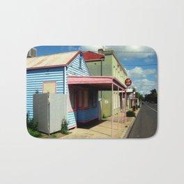Colourful abandoned shop in rural Town ~ Australia Bath Mat