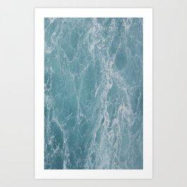 Niagara Falls - Blue Art Print