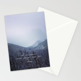 The mountains will always call you home. Stationery Cards