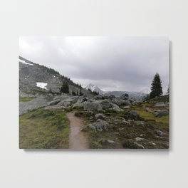 Rainy mountains day with melancholic beauty Metal Print