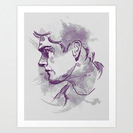 Dean Winchester   Firewall Art Print