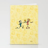 lovers Stationery Cards featuring Lovers by Giuseppe Lentini
