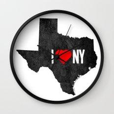 I (Heart) TX Wall Clock