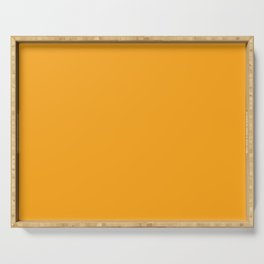Orange Solid Color Serving Tray