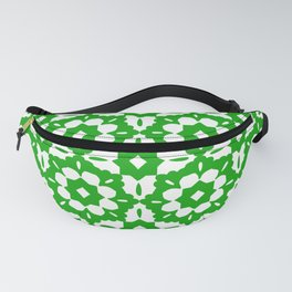 Kelly-Green Classic Tile Pattern Fanny Pack