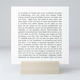 The Wisdom of Buddha Mini Art Print