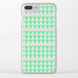 Organic Triangles Clear iPhone Case