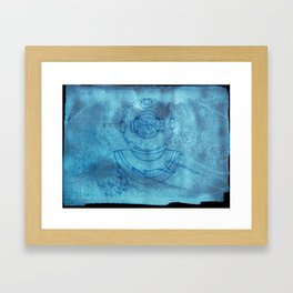 boy outside of the bubble Framed Art Print