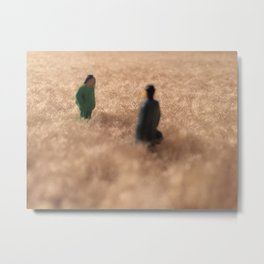 Rendezvous in the Synthetic Field Metal Print