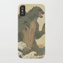Godzilla Ukiyo-e  iPhone Case