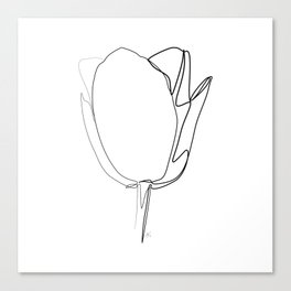"""Botanical Collection"" - Tulip Flower Print Canvas Print"