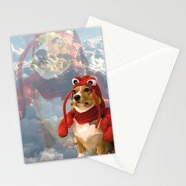Lobster Corgi Stationery Cards