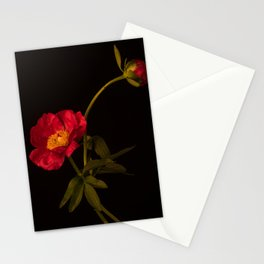 Two Red Peonies Too Stationery Cards