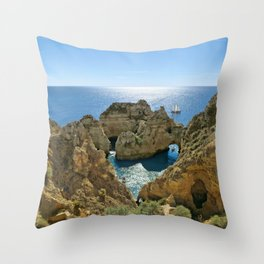 Ponta da Piedade, Algarve Throw Pillow
