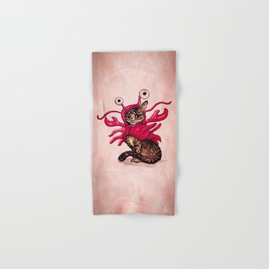 Ma'ama Lisa ~ Lobster Cat Hand & Bath Towel