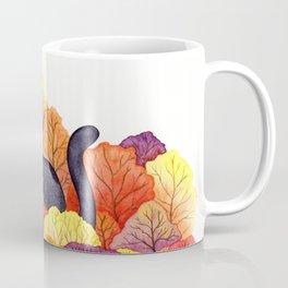 Autumn Forest Black Cat Coffee Mug