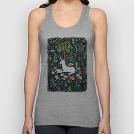 The Unicorn is Reading Unisex Tank Top