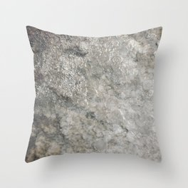 Pockets of Salt on the Rocks by the Sea 02 Throw Pillow