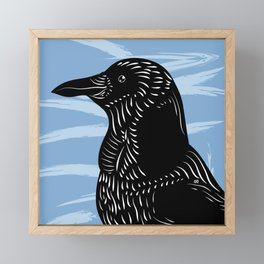 King Crow Framed Mini Art Print