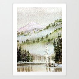 Mount Rainier Fog Kunstdrucke