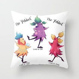 Dancing Yabbuts Throw Pillow