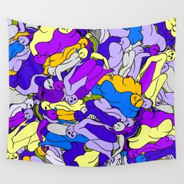 Sleeping Bodies - Ultraviolet Infusion Wall Tapestry