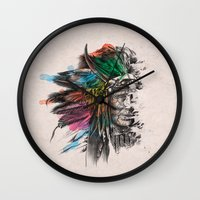 indian Wall Clocks featuring Indian  by mark ashkenazi
