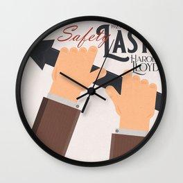 Safety Last!, Harold Lloyd movie poster, Hal Roach, 1923 film illustration Wall Clock